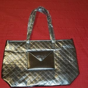 Bath and body works silver tote